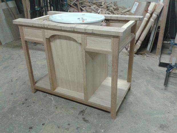 Muebles Para Baño De Madera:Estructura mueble de baño