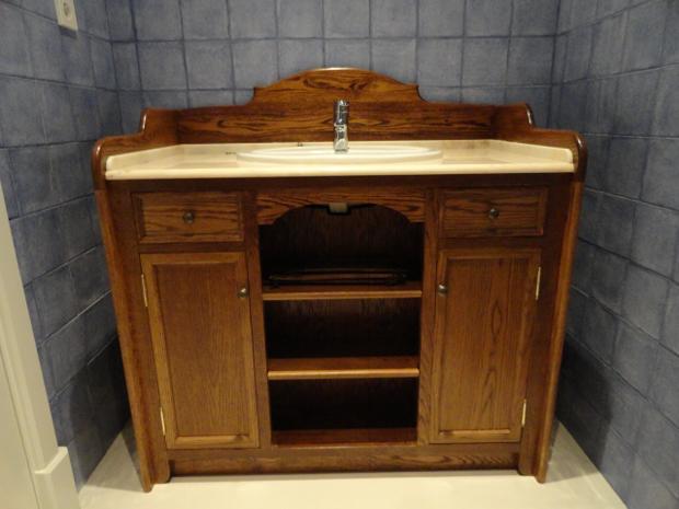 Mueble para ba o terminado muebles de la granja - Hacer mueble de bano ...