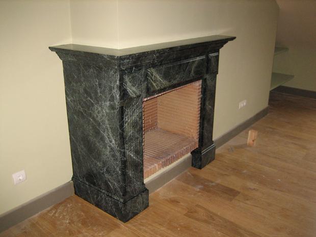 chimenea marmolizada