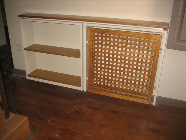 Cubreradiador y estanter amuebles de la granja muebles for Mueble cubreradiador