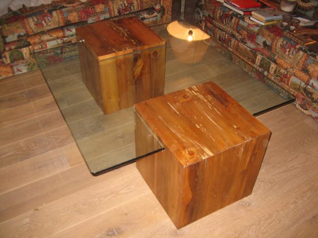Mesa de centro que combina madera y cristalmuebles de la - Mesa de centro de madera ...