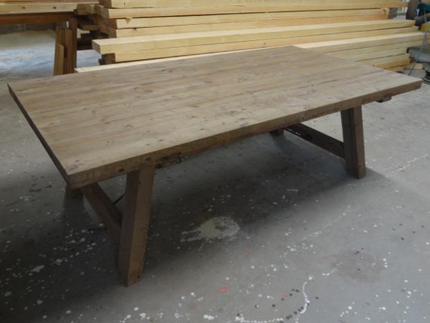 Mesa de comedor plegable para casa de campo muebles de - Patas plegables para mesas ...