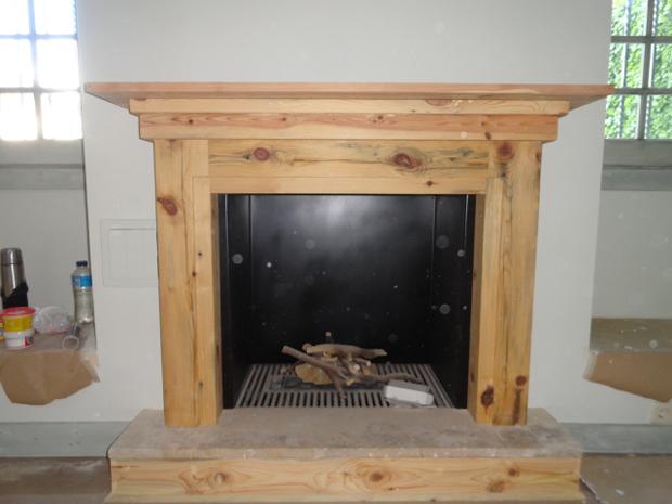 Chimeneas madera decorativo de la pared blanca hermosa for Chimeneas de madera