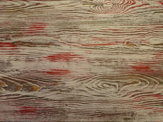 mesa estudio acabado rojo