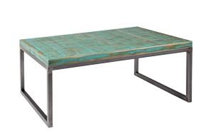 Sobre de dibujo vertical de color turquesa con patas modelo cube en acabado acero.