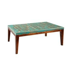 Sobre de dibujo vertical de color turquesa con patas modelo pin en color madera oscura.