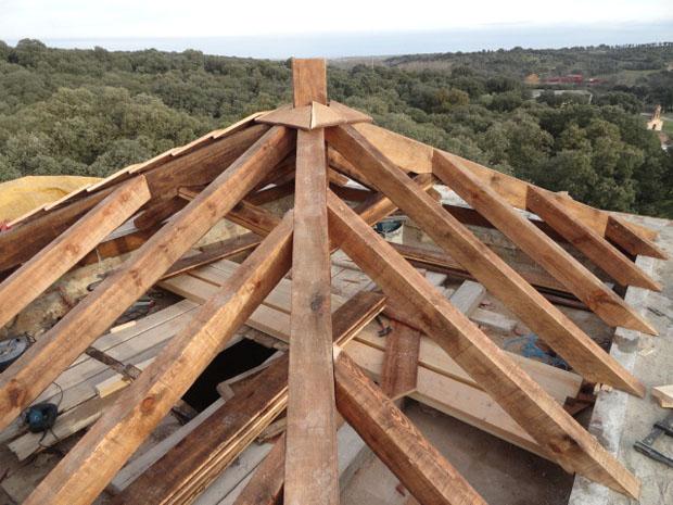 Cubierta de madera