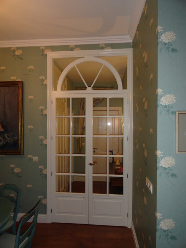 puertas pared flores