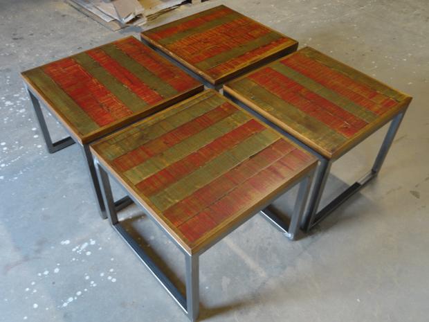 mesas policromadas