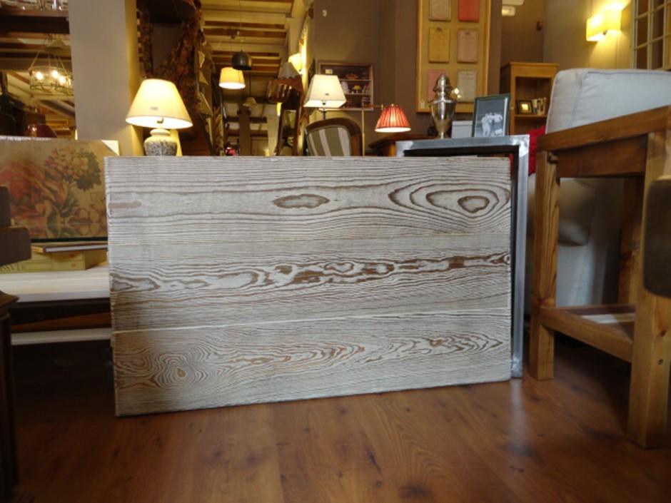 Cabecero tabla vieja laca, para colgar a pared de 100×60 cm.