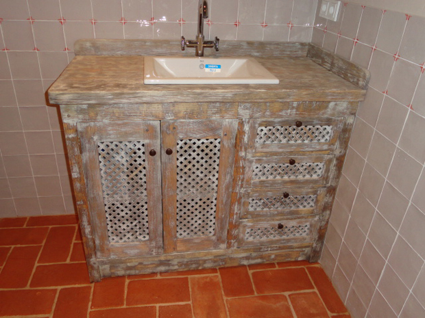 mueble baño pino manena
