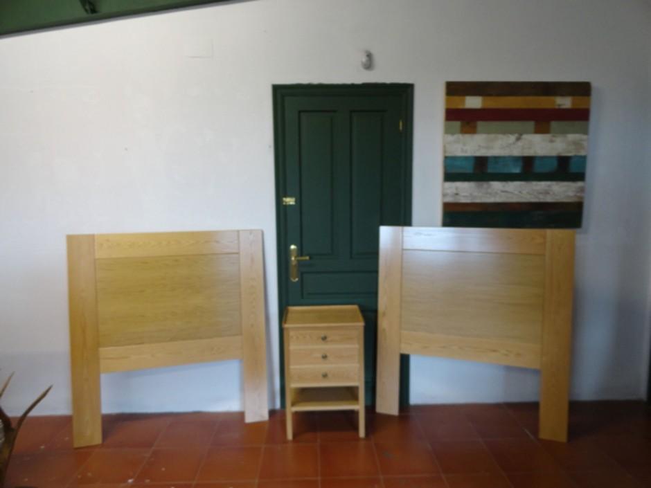Cabecero roble 110x2x120 cm.