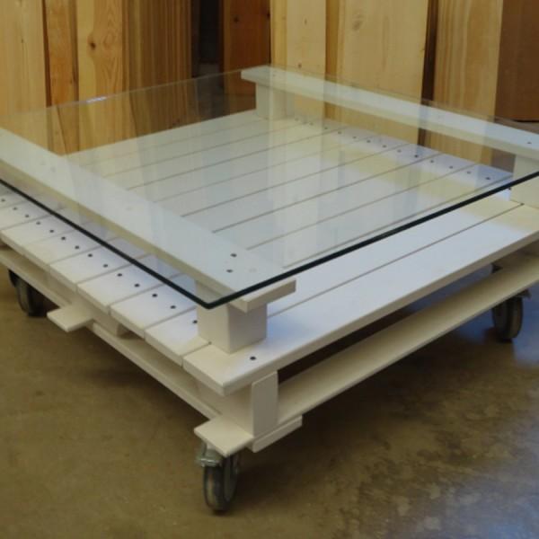 Mesa de centro palets 95x95x42 cm.